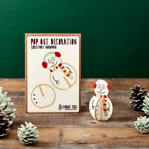 Pop Out Snowman Christmas Card - ad&i
