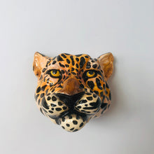 Load image into Gallery viewer, Ceramic Leopard Head Wall Sconce Vase - ad&i