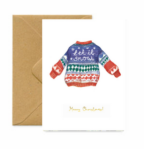 Let it Snow Jumper Christmas Card