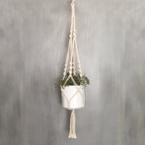 Macrame Plant Pot and Holder
