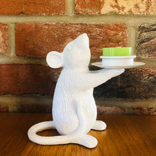 Load image into Gallery viewer, Pair of White Mice Candlestick Holders - ad&i