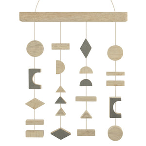 Abstract Shapes Wooden Mobile - ad&i