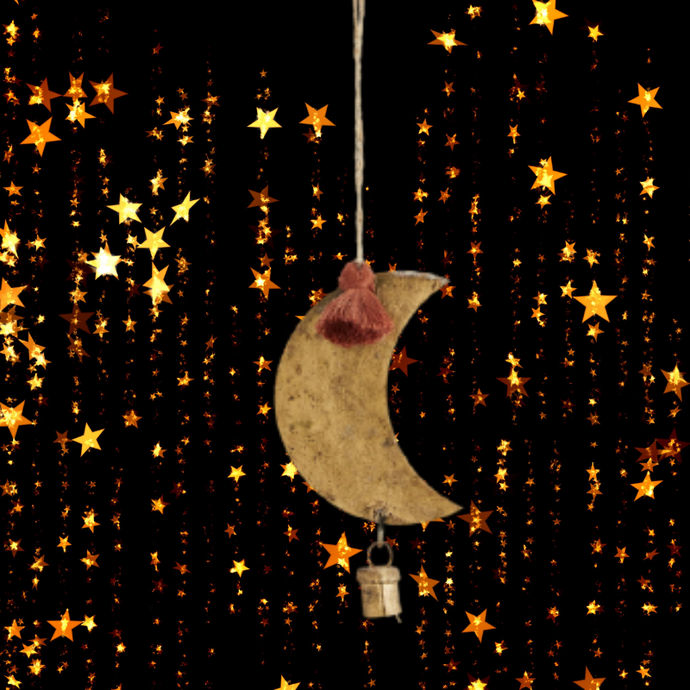 Hanging Moon and Bell Decoration Christmas Tree Decoration