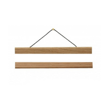 Load image into Gallery viewer, A3 Oak Poster Hanger