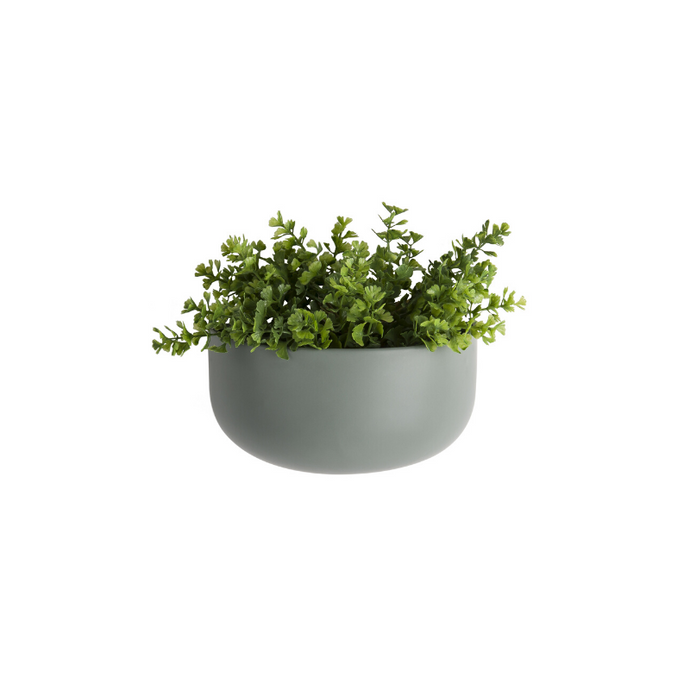 Oval Wall Matt Ceramic Plant Pot