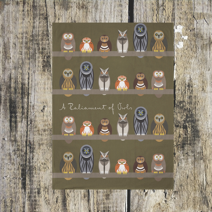 Parliament of Owls Tea Towel - ad&i