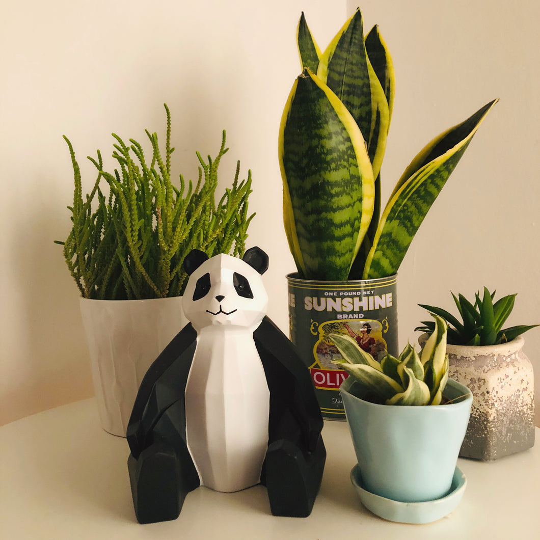 3D Sitting Panda Geometric Ornament - ad&i