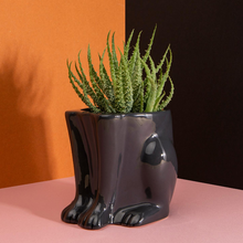 Load image into Gallery viewer, Ceramic Panther Plant Pot