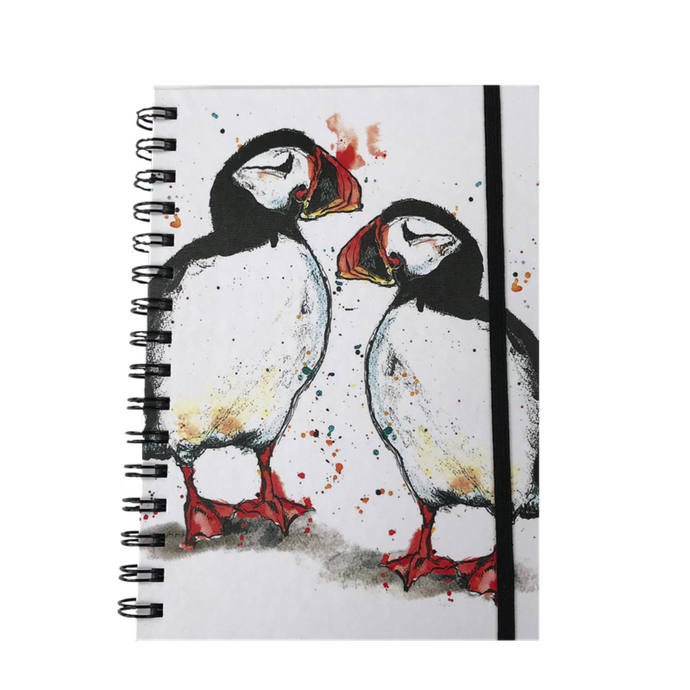 Puffin Print A5 Hardback Spiral Bound Notebook