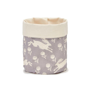 Running Hare Grey Cotton Plant Pot Bag - ad&i