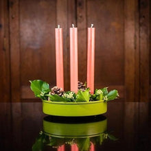 Load image into Gallery viewer, Olive Metal Candle Platter Holder