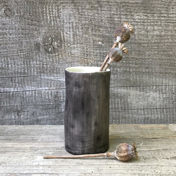 Black Wash Painted Mini Vase - ad&i