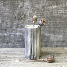 Load image into Gallery viewer, Textured Striped Hand Painted Mini Vase - ad&i