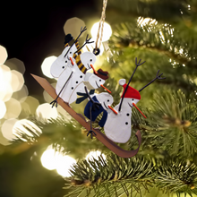 Load image into Gallery viewer, Sledging Snowmen Christmas Decoration