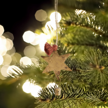 Load image into Gallery viewer, Hanging Star and Bell Christmas Tree Decoration