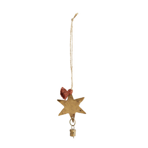 Hanging Star and Bell Christmas Tree Decoration