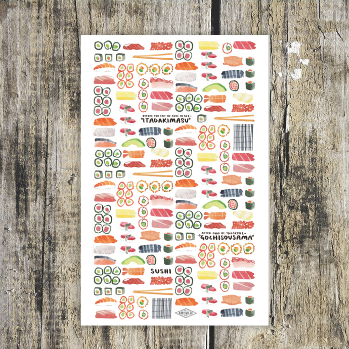 Eat Sushi Tea Towel
