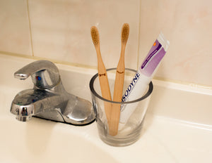 His and Her Bamboo Toothbrush Set - ad&i