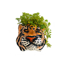 Load image into Gallery viewer, Ceramic Tiger Head Wall Sconce Vase - ad&i
