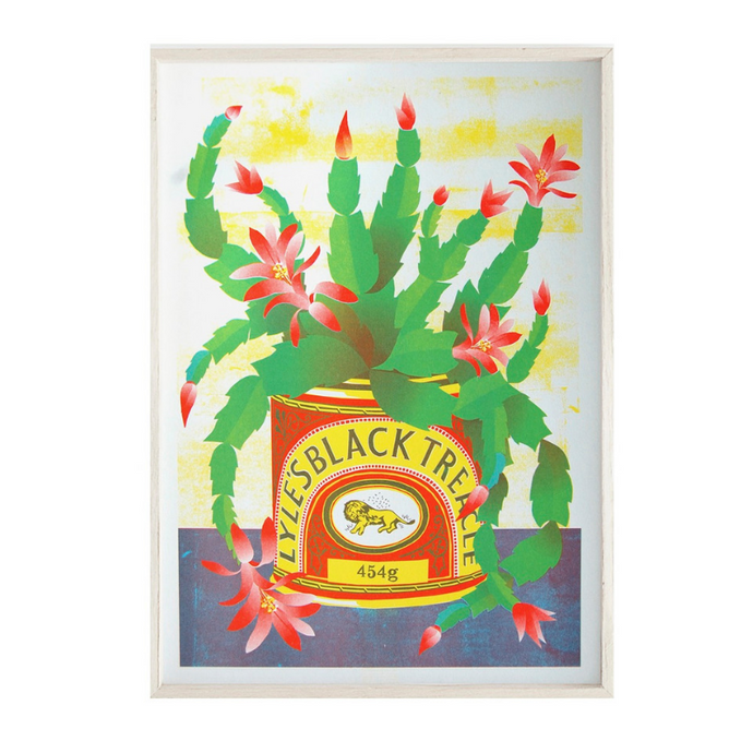 Black Treacle Tin A3 Risograph Print by Printer Johnson - ad&i