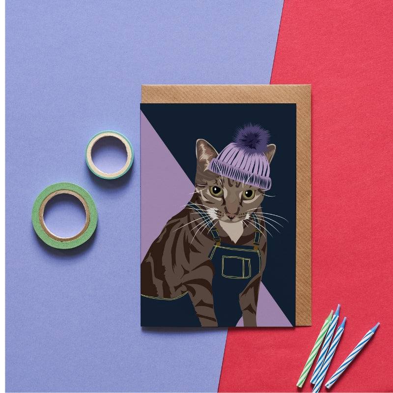 Cleo the Cat Greeting Card - ad&i