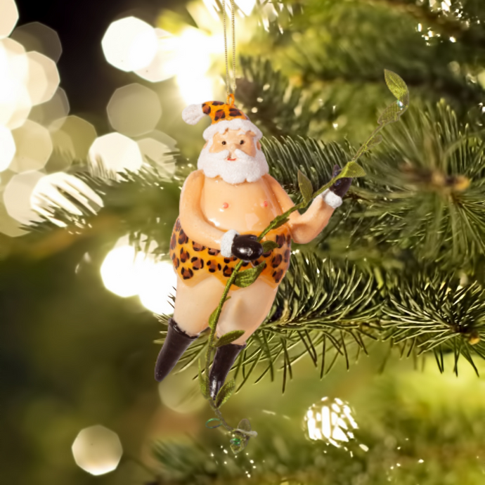 Tarzan Santa Christmas Tree Bauble