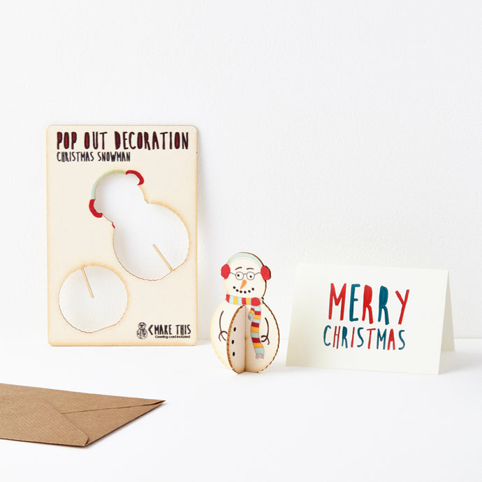 Pop Out Snowman Christmas Card