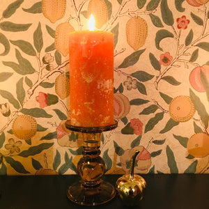 Medium Coloured Glass Candlestick Holder