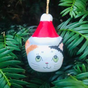Cat in a Hat Christmas Tree Decoration