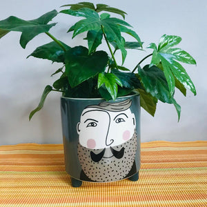 Hipster Gentleman Ceramic Plant Pot