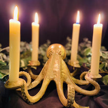 Load image into Gallery viewer, Gold Octopus Candlestick Holder