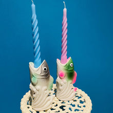 Load image into Gallery viewer, Ceramic Fish Candlestick Holder