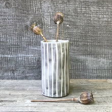 Load image into Gallery viewer, Striped Hand Painted Mini Vase - ad&i
