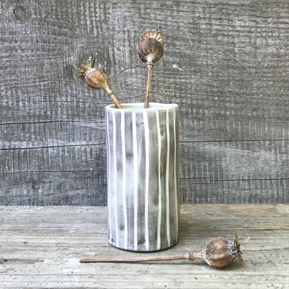 Striped Hand Painted Mini Vase - ad&i