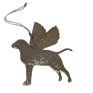 Pressed Silver Decorative Hanging Angel Dog