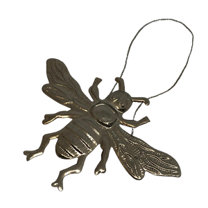 Pressed Silver Decorative Hanging Bee