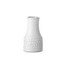 Load image into Gallery viewer, White Textured Dot Terracotta Vase - ad&i