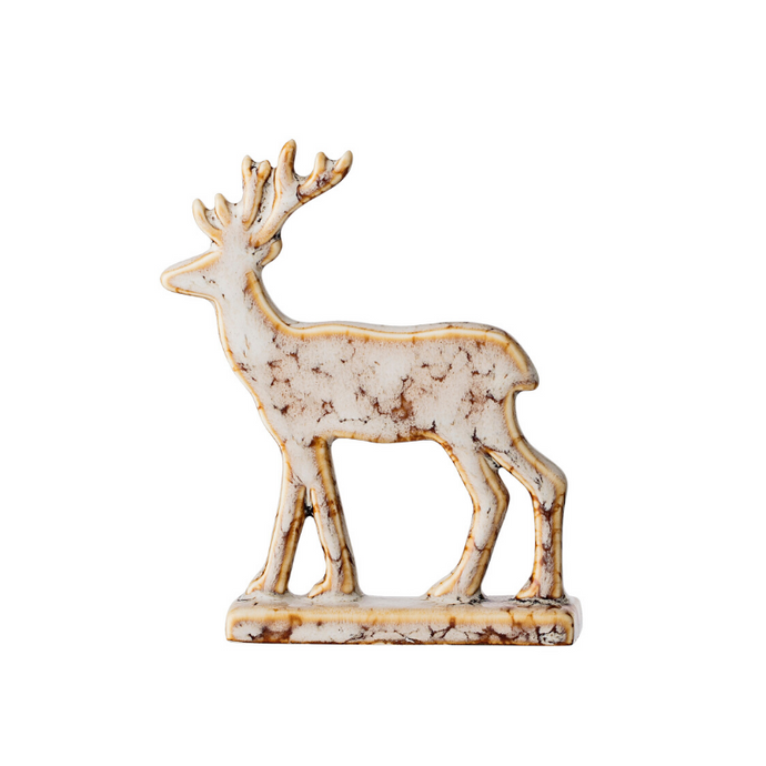 Deer Decorative Ornament - Natural