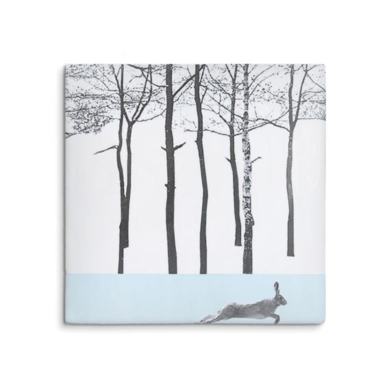 Winter Hare in the Woods Story Tile - ad&i