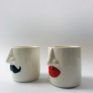 Mr and Mrs Ceramic Pots Set of Two - ad&i