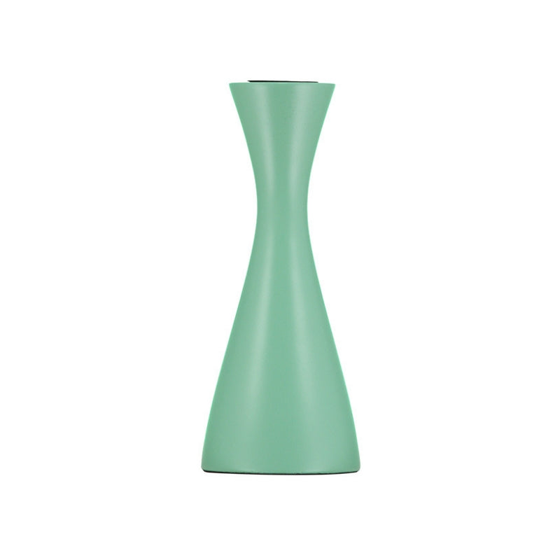 Opaline Green Medium Wooden Candleholder