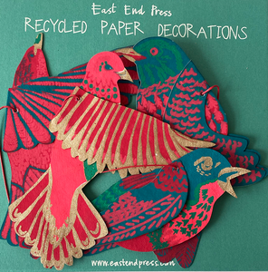 Pack of Four Bird Paper Decorations