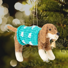 Load image into Gallery viewer, Dog in a Christmas Jumper Tree Decoration