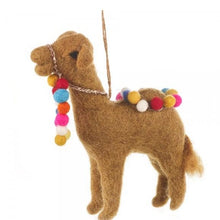 Load image into Gallery viewer, Carla the Camel Felt Christmas Tree Decoration - ad&i