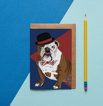 Load image into Gallery viewer, Churchill the British Bulldog Greeting Card - ad&i
