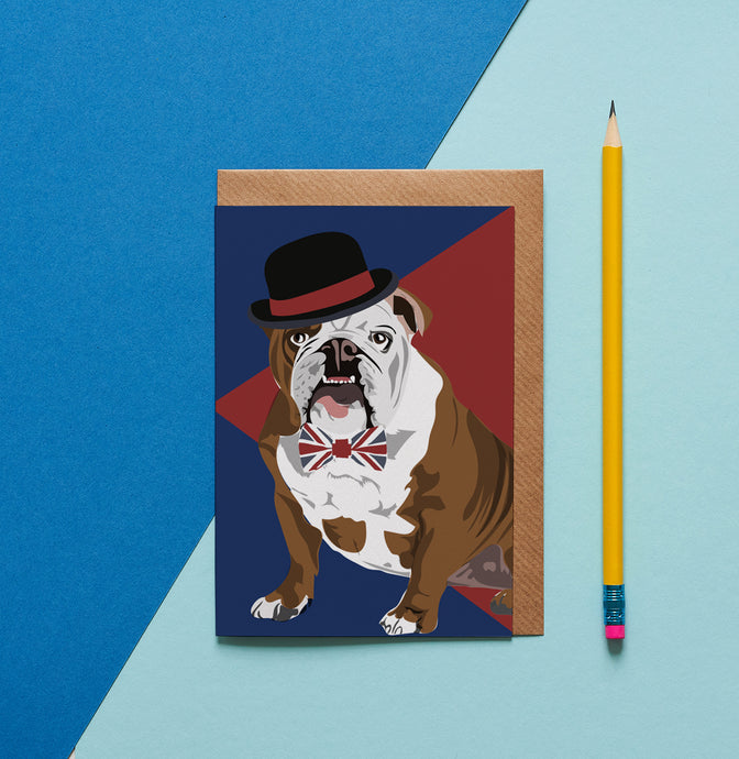Churchill the British Bulldog Greeting Card - ad&i