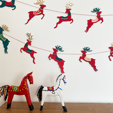 Load image into Gallery viewer, Colourful Reindeer Garland