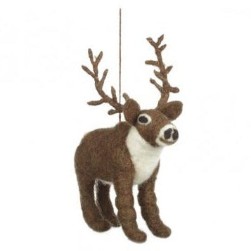 Eddy the Elk Felt Christmas Tree Decoration - ad&i