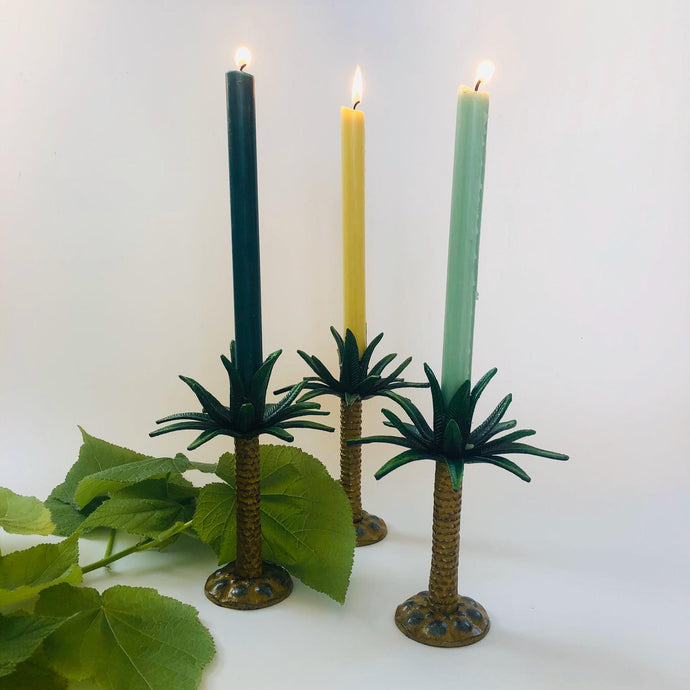 Cast Iron Palm Tree Candlestick Holder - ad&i