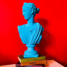 Load image into Gallery viewer, Teal Flock Large Artemis Bust